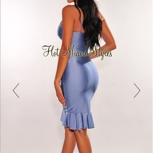 Dress (iced blue )
